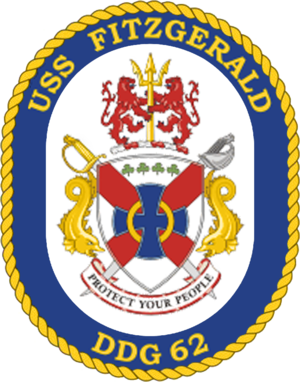 Badge of USS Fitzgerald USS Fitzgerald DDG-62 Crest.png