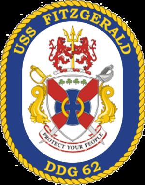 USS Fitzgerald - Image: USS Fitzgerald DDG 62 Crest