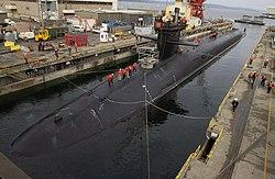 An Ohio class ballistic missile submarine