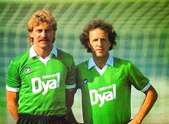 U.S. Avellino 1912 - Walter Schachner and Dirceu with Avellino in 1986–87 season
