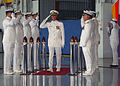 US Navy 031018-N-8253M-124 Vice Admiral John Totushek passes through the Sideboys at his Retirement and Change of Command Ceremony.jpg