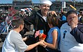 US Navy 031105-N-6633C-005 Storekeeper Seaman Alfredo Arreola feels the love.jpg