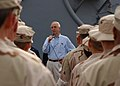 US Navy 031124-N-3994W-001 Secretary of the Navy, the Honorable Gordon R. England, talks with Sailors and Coast Guardsmen.jpg