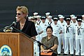 US Navy 070208-N-1113S-001 U.S. Ambassador to the Philippines Kristie A. Kenney speaks during a ceremony welcoming amphibious command ship USS Blue Ridge (LCC 19).jpg
