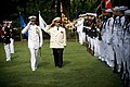 US Navy 070824-N-0696M-004 Cmdr. Chris Higginbotham, commanding officer of U.S. Navy Ceremonial Guard, escorts Adm. Vladimir Masorin, commander in chief of the Russian Navy, as he reviews the ceremonial guard during a full hono.jpg