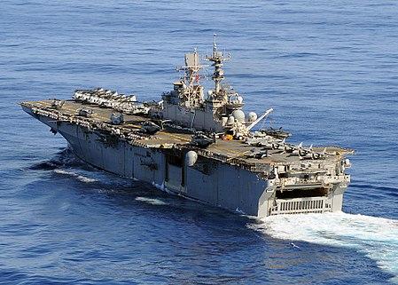 450px-US_Navy_080906-N-1082Z-015_The_multi-purpose_amphibious_assault_ship_USS_Iwo_Jima_%28LHD_7%29_transits_the_Atlantic_Ocean.jpg
