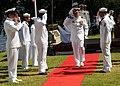 US Navy 081023-N-9758L-167 apt. David Adler is saluted as he walks through sideboys.jpg