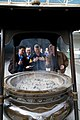 US Navy 091020-N-1251W-042 Master Chief Petty Officer of the Navy (MCPON) Rick West, center, observes an incense urn at the entrance of Sensoji Temple along with U.S. 7th Fleet Command Master Chief Marcos Sibal.jpg