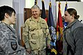 US Navy 100107-N-8273J-273 Chief of Naval Operations (CNO) Adm. Gary Roughead speaks with and answers questions from International Security Assistance Force (ISAF) Sailors while visiting Camp Eggers in Kabul, Afghanistan.jpg