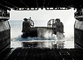 US Navy 101206-N-2218S-028 A landing craft air cushion (LCAC) from the Japan Maritime Self-Defense Force enters the well deck of the amphibious ass.jpg