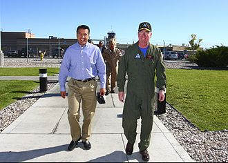 Brian Sandoval - Sandoval at the Naval Strike and Air Warfare Center in Fallon on September 22, 2011.
