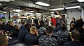 US Navy 110927-N-YB753-279 Vice Adm. Gerald R. Beaman, commander of U.S. 3rd Fleet, speaks to Sailors in the chiefs' mess aboard the guided-missile.jpg