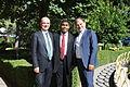 US Senate lobbyist Cary Lee Peterson, Albania Minister Agriculture Edmond Panariti and MP Deputy Koco Kokedhima 1.jpg