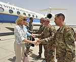 US Under Secretary of Defense Christine Wormuth visits TAAC-S to discuss Resolute Support progress 150701-N-SQ656-397.jpg