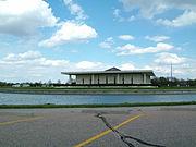 Stuhr Museum of the Prairie Pioneer, Grand Island, Nebraska. Building designed by Edward Durell Stone.