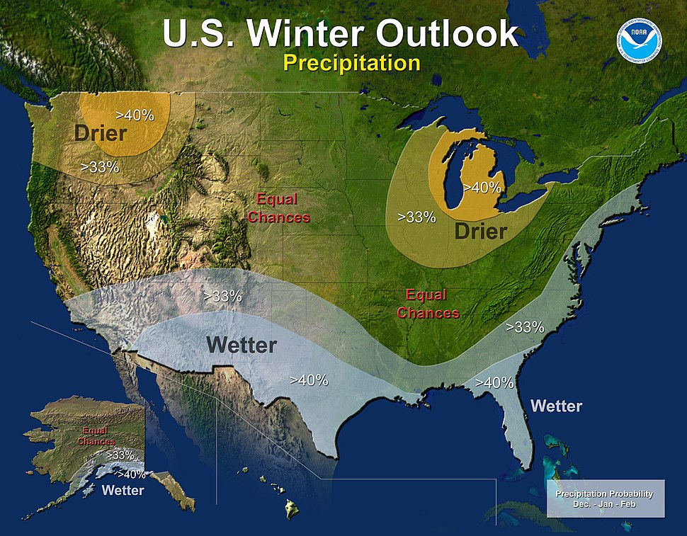 US precip outlook winter 2014–15 NOAA