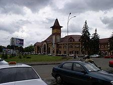 The Uzhhorod Central Rail Terminal.