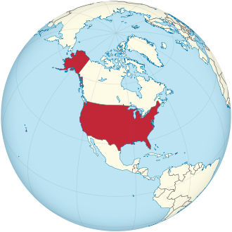 United States on the globe (North America centered).svg