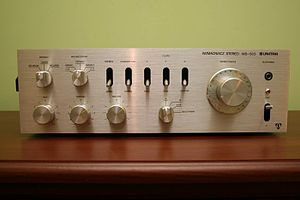 Audio power amplifier - Audio stereo power amplifier made by Unitra