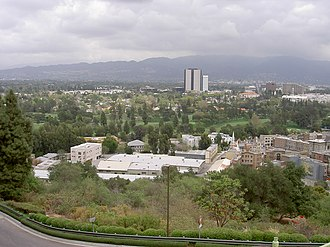 Universal City, California - View across Universal City, with Burbank studio district in background
