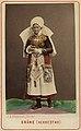 Världsutställningen i Paris 1867. Kvinna i dräkt från Herrestad, Skåne - Nordiska Museet - NMA.0043761.jpg