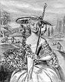 Våren, friherrinnan Eva Stromberg, teckning av Lorentz Pasch, 1739.jpg