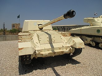 Anti-tank gun - A British Archer tank destroyer, based on the hull of a Valentine tank.