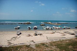 Valvettithurai Town in Sri Lanka
