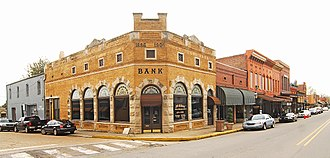 Van Buren, Arkansas - Historic bank building, 2009