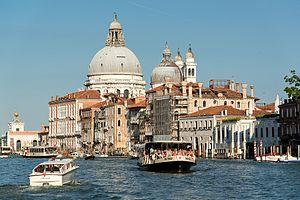 Actv - A vaporetto on the Canal Grande, Venice, Italy