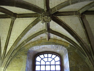 Jewel Tower - The vaulted ceiling on the ground floor