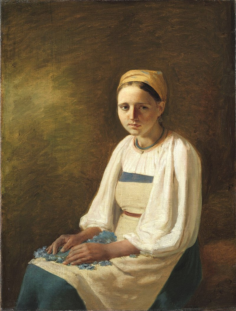 Venetsianov Peasant Girl with Cornflowers.jpg