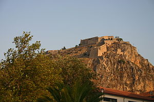 History of the Republic of Venice - The Venetian fort in Nafplion, Greece. This is one of the many forts that secured the Venetian trade routes in the Eastern Mediterranean.