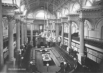 Victoria (Australia) - The Legislative Council Chamber, as photographed in 1878