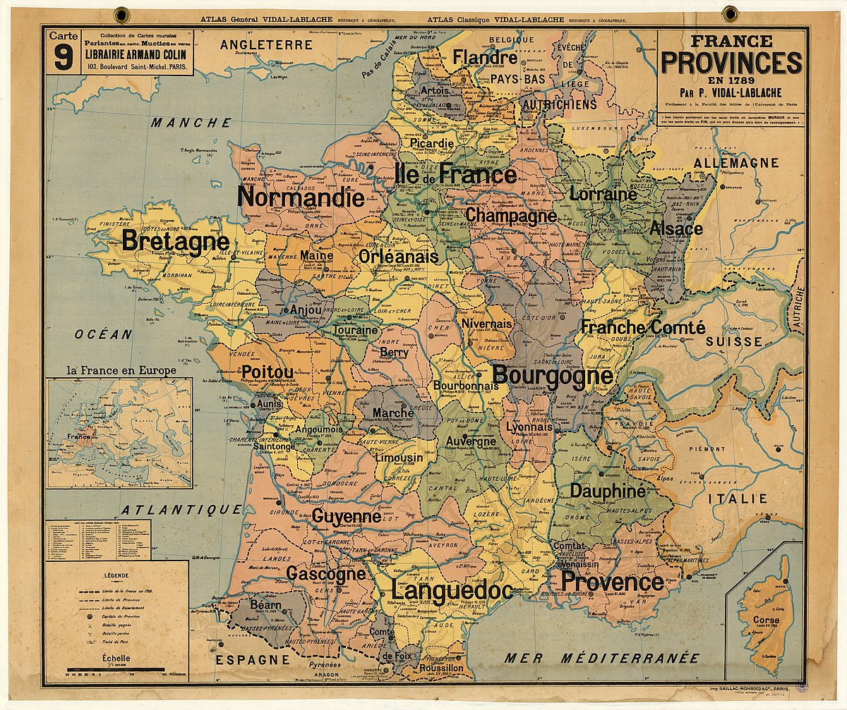 Map Of Provinces In France.Provinces Of France Wikipedia