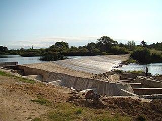 Ventos upės užtvanka Viekšniuose prie senojo vandens malūno. Foto:Paulius Č