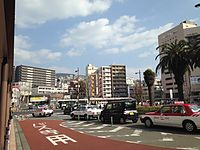 View in front of East Entrance of Sasebo Station 20141230-1.JPG