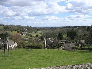 Chedworth - Image: View of Chedworth from Church Graveyard geograph.org.uk 343679