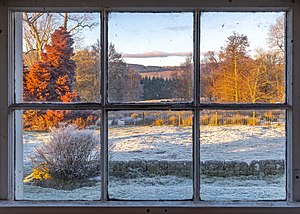 View of a frosty evening through a window on a Scottish farm.jpg