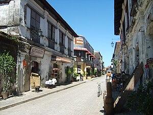 English: Calle Crisologo in Vigan, Ilocos Sur,...