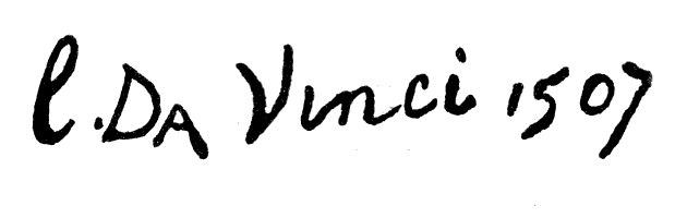 Vinci, Leonardo da 1452-1519 Signature from the Paintings and Drawings 08 Signature