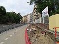 Vinohrady, Bělehradská, rekonstrukce TT, u parku Nad Bělehradskou.jpg