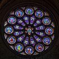 VitrailRosaceOuest Cathédrale Saint-Pierre Montpellier (France).jpg
