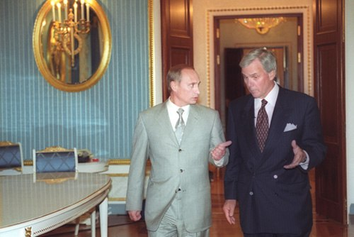 Vladimir Putin with Tom Brokaw-1