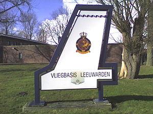Leeuwarden Air Base - Exterior sign for Vliegbasis Leeuwarden