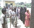 Voters of either sex in two separate queues at Malihabad polling station in Lucknow, Uttar Pradesh during the third phase of General Election-2004 on May 5, 2004 (Wednesday.jpg