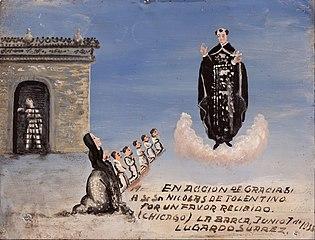 Votive offering dedicated to San Nicolás de Tolentino