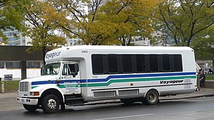 International S-Series (bus chassis) - Navistar 3400 in use as a shuttle bus.