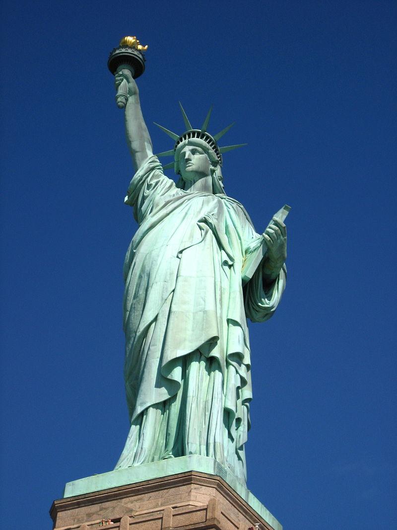 Koperen vrijheidsbeeld