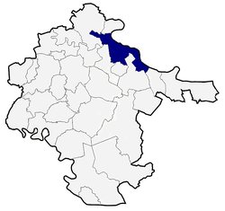 Location of Vukovar Municipality